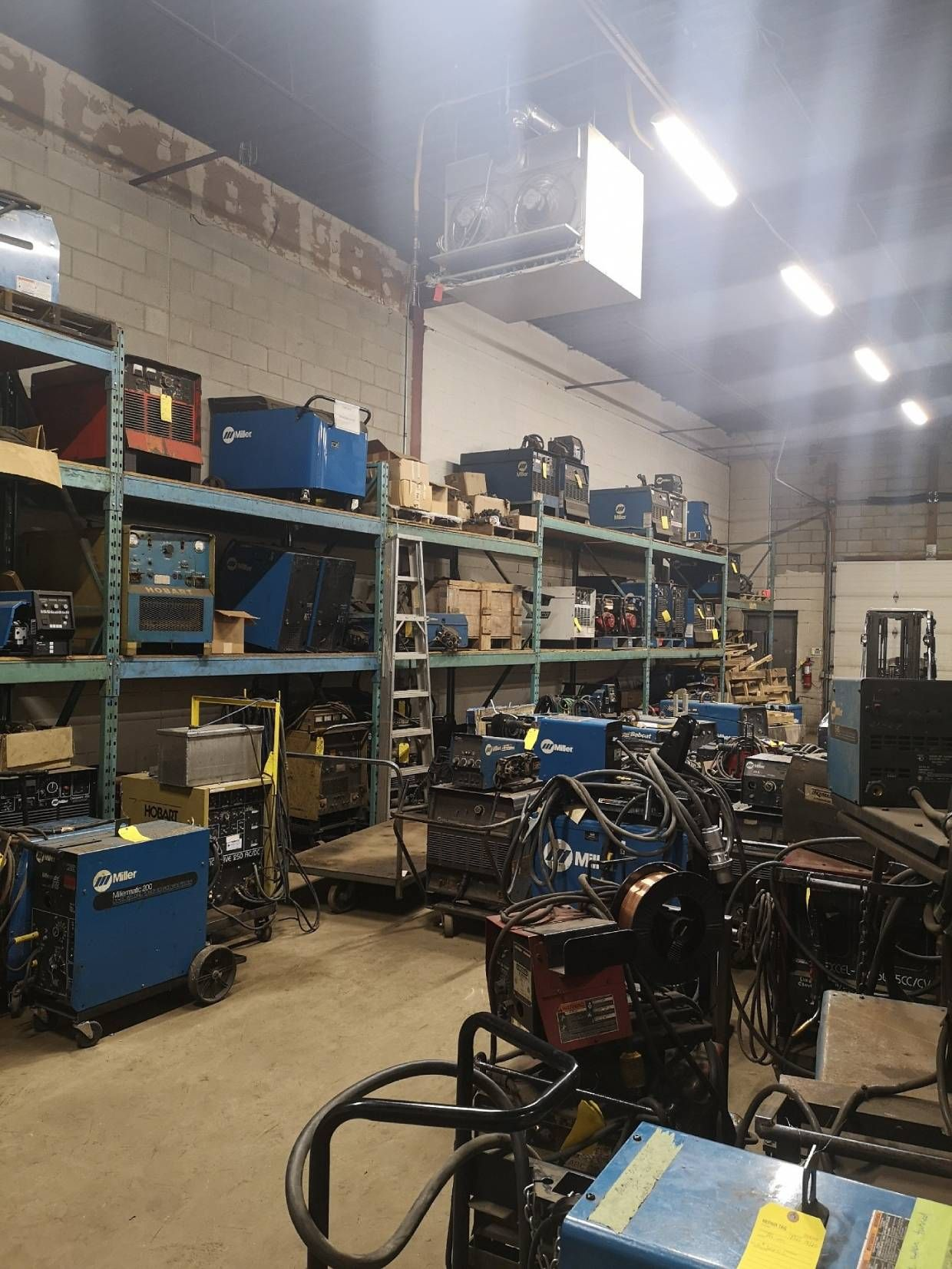 Welding equipment storage
